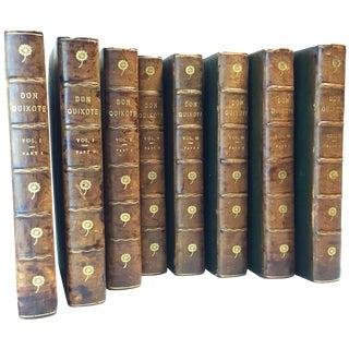 Late 19th Century Antique Illustrated Books, the Ingenious Gentleman Don Quixote of La Mancha by Miguel De Cervantes Saavedra - 8 Volumes For Sale