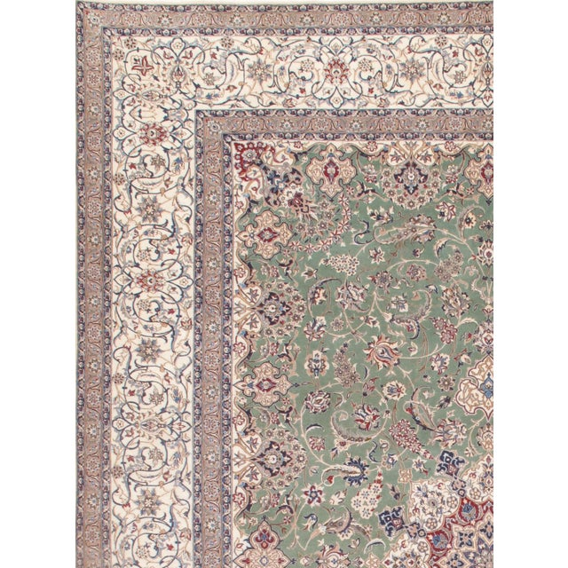Persian NAIN Handmade Hand-knotted HABIBIAN Design fine 6-line. Korker wool on a Cotton Foundation.