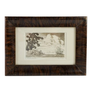 """Desert Clouds"" Etching Print by William Eskey For Sale"