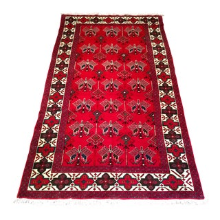 Shiraz Tribal Rug With Modern Design - 5′ × 9′