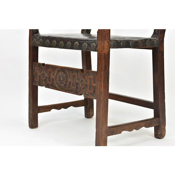 17th C. Spanish Renaissance Friar Chair For Sale In Los Angeles - Image 6 of 13
