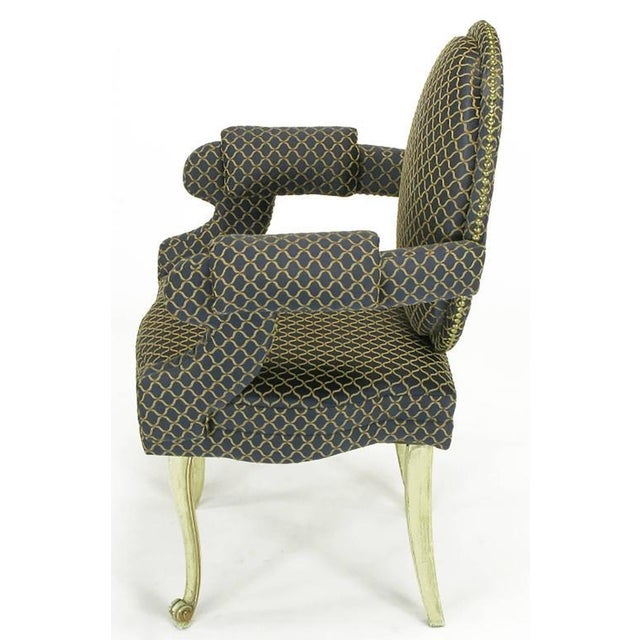 Four Louis Modern Custom Dining Armchairs - Image 5 of 9