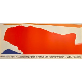 "Helen Frankenthaler ""Opening April 6 to April 25, 1968 Andre Emmerich 41 East 57 New York"" Period Exhibition Poster For Sale"
