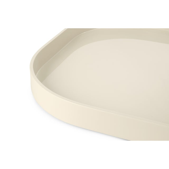 Contemporary Miles Redd Collection Large Stacking Tray in Ivory For Sale - Image 3 of 5