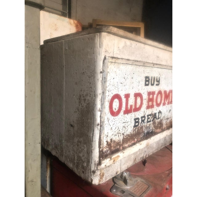 Rustic 1970s Vintage Old Home Bread Retail Display and Storage Box For Sale - Image 3 of 13