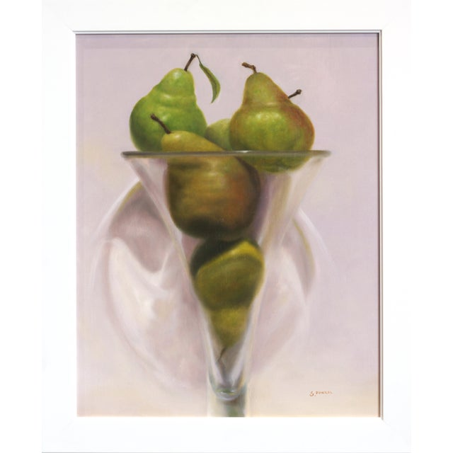 """21st Century """"Pears in Violet"""" Original Painting by Stuart Dunkel For Sale - Image 9 of 9"""