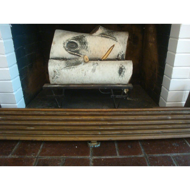 Art Deco Early Arts & Crafts Brass Fireplace Fender Rail For Sale - Image 3 of 9