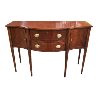 Hickory Chair Historic James River Plantation Inlaid Mahogany Sideboard For Sale