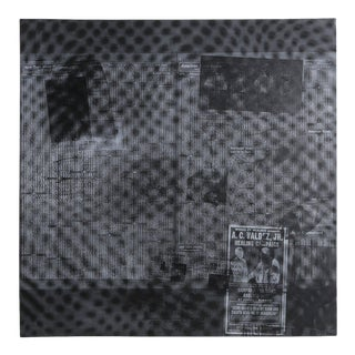 Robert Rauschenberg, Surface Series From Currents #51, Hand-Printed Screenprint on Aqua B 844 Paper For Sale