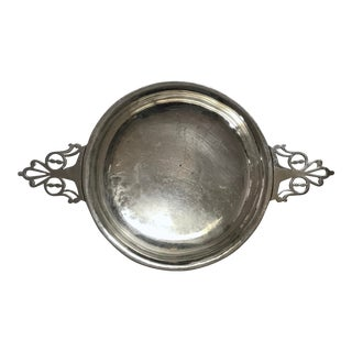 Antique American Sterling Silver Two-Handled Porringer Bowl/Dish For Sale