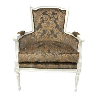 Century Furniture Italian Bergere Chair For Sale