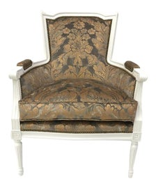 Image of Fabric Bergere Chairs