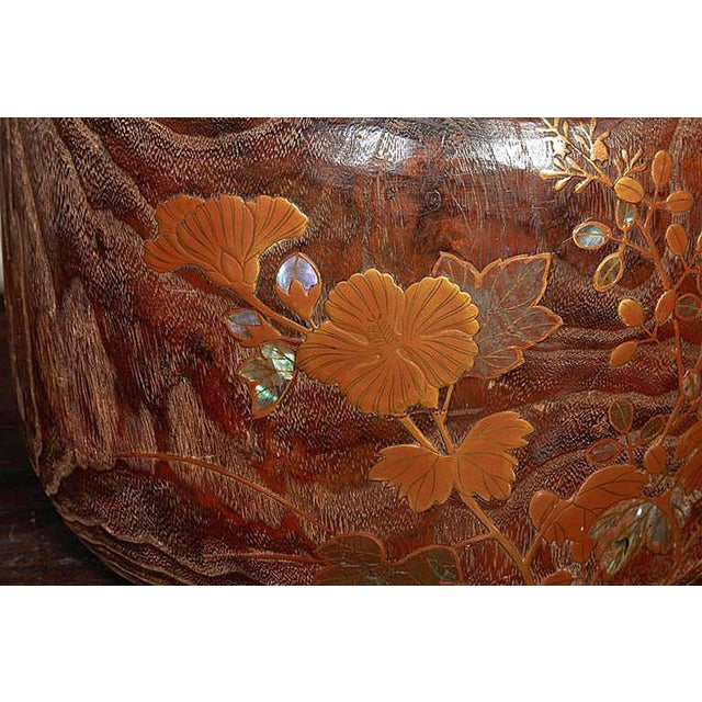 Late 19th Century Wood and Copper Braziers / Hibachis For Sale - Image 4 of 9