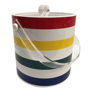 Vintage Striped Ice Bucket