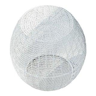 C'est Beau1872 Mesh Pattern Side Table White For Sale