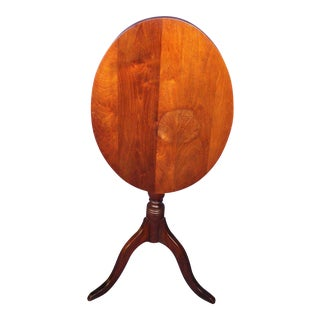 Antique Tilt Top Mahogany Oval Breakfast Table For Sale