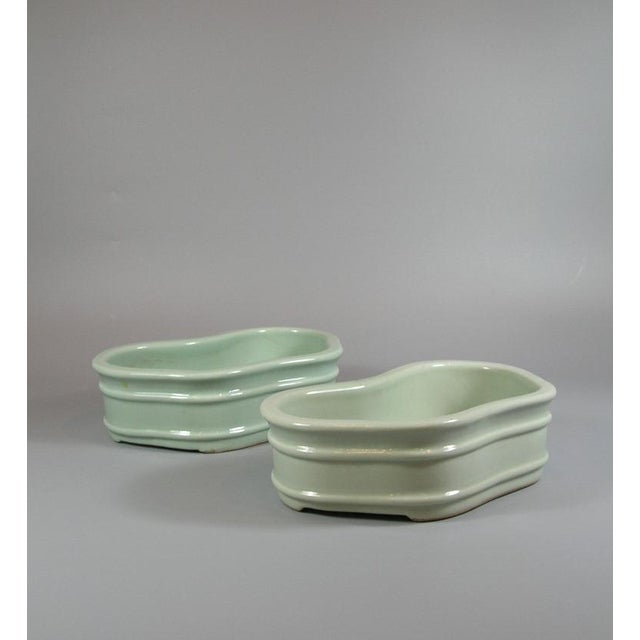 Chinese 19th Century Chinese Celadon Butterfly Bowls - a Pair For Sale - Image 3 of 11