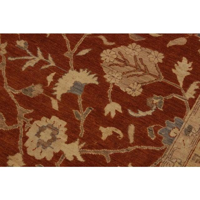 Kafkaz Peshawar Barbar Rust/Gold Wool Rug -8'11 X 12'9 For Sale - Image 4 of 8