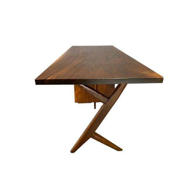George Nakashima Conoid Writing Desk For Sale In Boston - Image 6 of 8