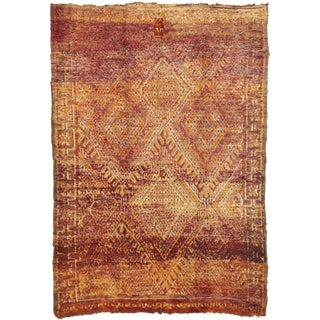 Vintage Beni M'Guild Moroccan Rug - 6′5″ × 9′1″ For Sale