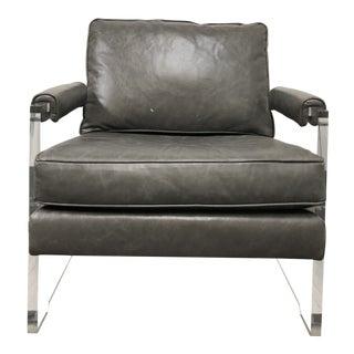 Mitchell Gold & Bob Williams Leather Kazan Arm Chair For Sale
