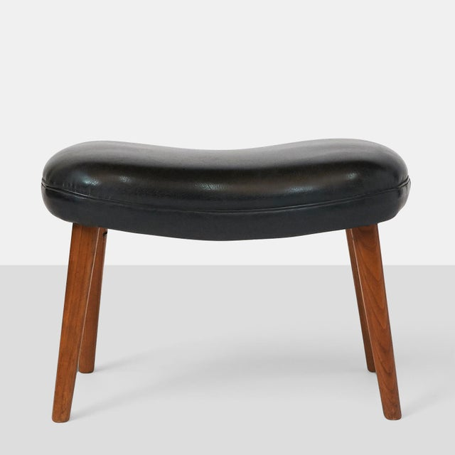 "Mid-Century Modern Ib Madsen & Acton Schubell ""Pragh"" Foot Stool For Sale - Image 3 of 6"