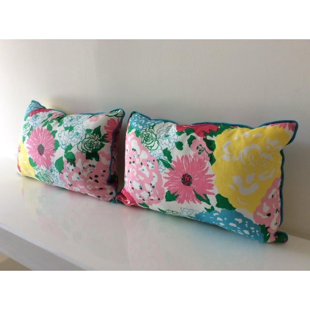 Cottage Style Handmade Floral Pillows - a Pair For Sale - Image 4 of 11