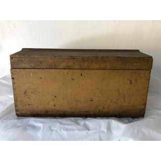 Kjobenhavn Wood Steamer Trunk C.1820 Old Paint Iron Handles Preview
