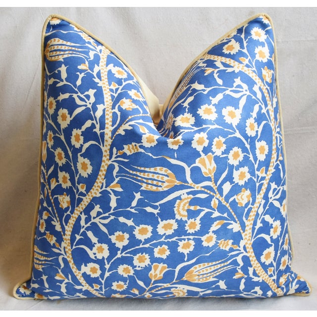 """Early 21st Century Clarence House Floral Fabric Feather/Down Pillows 24"""" Square - Pair For Sale - Image 5 of 13"""