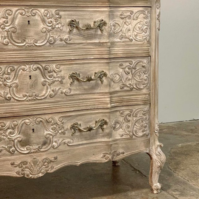 Early 20th Century Antique Country French Whitewashed Oak Commode For Sale - Image 5 of 13