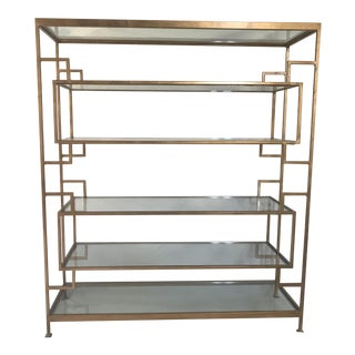 Worlds Away Doris Gold Leaf Etagere