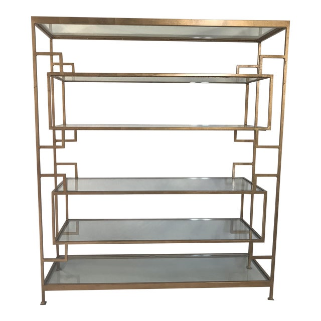 Worlds Away Doris Gold Leaf Etagere For Sale
