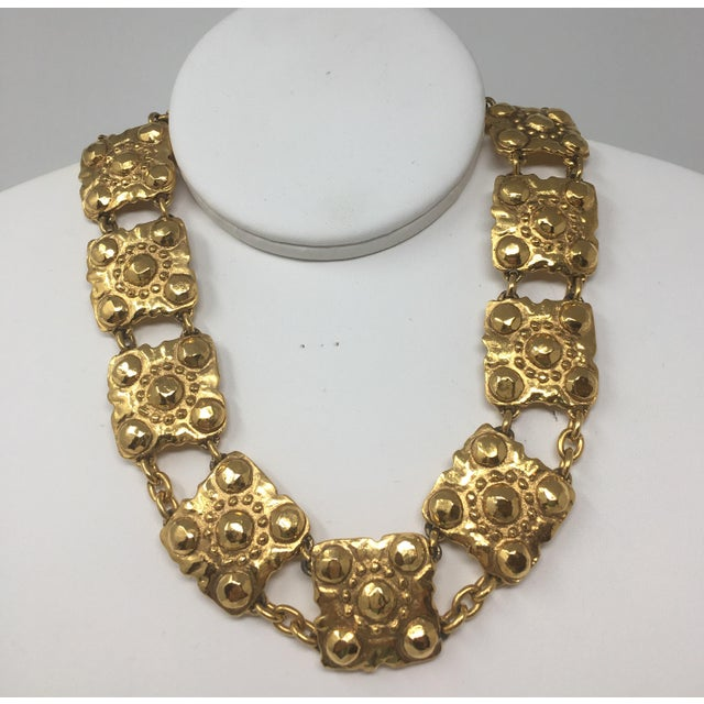 Gold 2003 Chanel Gold-Tone Medallion Necklace For Sale - Image 7 of 7