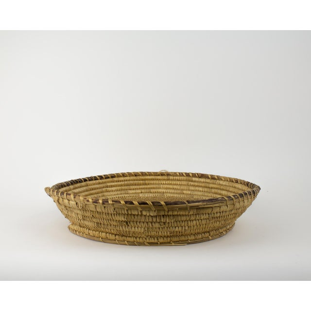 Large Bohemian Woven Basket For Sale - Image 5 of 8