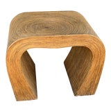 Image of Boho Chic Gabriella Crespi Pencil Reed Side Table For Sale