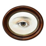 Image of Contemporary Lover's Eye Oil Painting in a Georgian 1804 Oval Frame by Susannah Carson For Sale