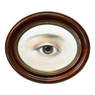 Contemporary Lover's Eye Oil Painting in a Georgian 1804 Oval Frame by Susannah Carson For Sale