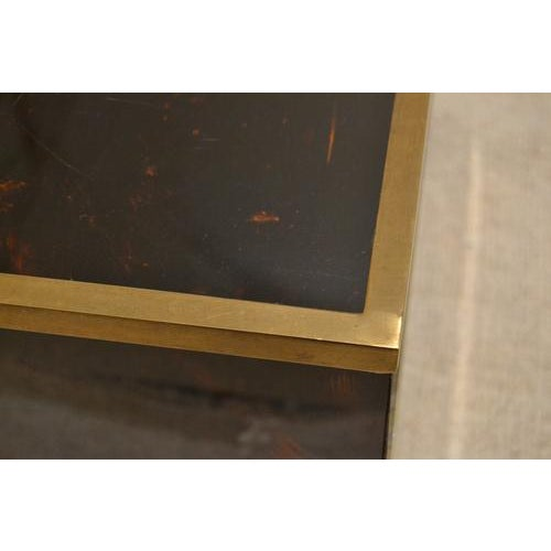 Paint Mid-Century Tortoise Lacquered Table, France For Sale - Image 7 of 8