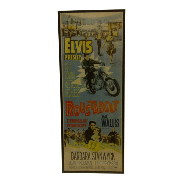 "Vintage Movie Poster ""Roustabout"" Signed by Elvis Presley Circa 1964 For Sale"