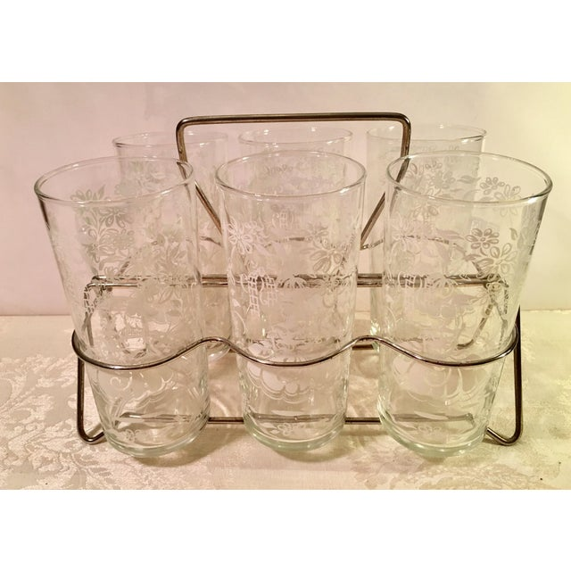 Traditional Sillouette Mid-Century Glasses - Set of 6 For Sale - Image 3 of 11