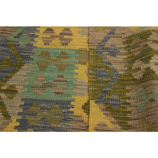 Kilim Arya Jaquelin Gray/Gold Wool Rug -2'8 X 4'2 For Sale - Image 4 of 8