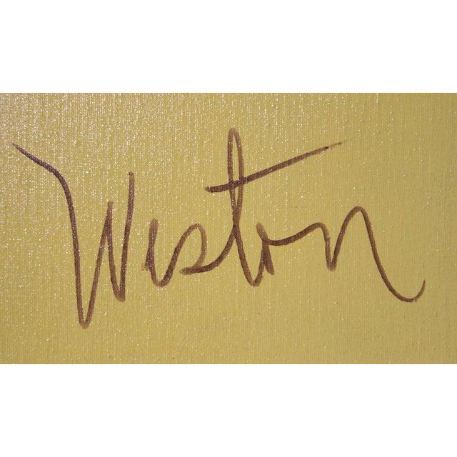 Artist: Richard Weston, American Title: Ediface Year: circa 1980 Medium: Acrylic on Canvas and Collage, signed l.r. Size:...