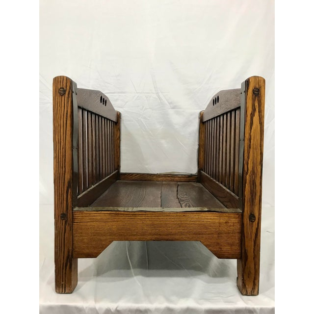 Stickley Stickley Inspired Arts and Crafts Firewood Hod For Sale - Image 4 of 7