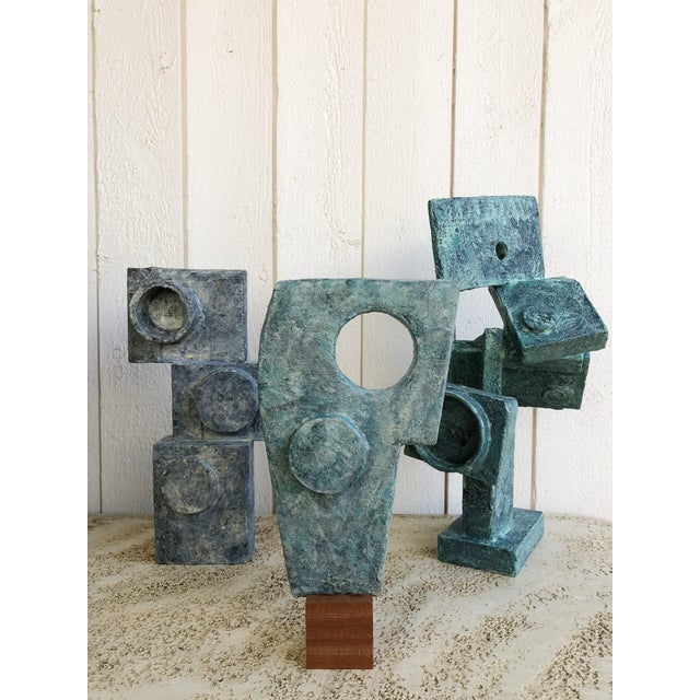 """Abstract Cubist Sculpture """"Dancer"""" by Bill Low For Sale - Image 12 of 13"""