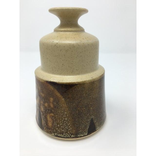 Vintage Mid-Century Ceramic Earth Tone Vase For Sale - Image 4 of 11