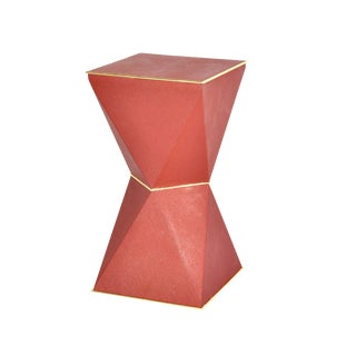 Bellini End Table Contemporary Bellini Geometric Drink Drop Side Table For Sale