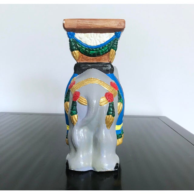 Vintage 1960's Hand-Painted Ceramic Elephant Planter For Sale In Miami - Image 6 of 13