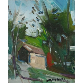 """""""Spring Cabin"""" Contemporary Landscape Oil Painting by Jose Trujillo For Sale"""