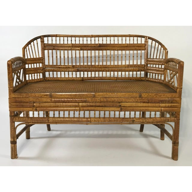 Brighton Pavillion Caned Settee For Sale - Image 11 of 11