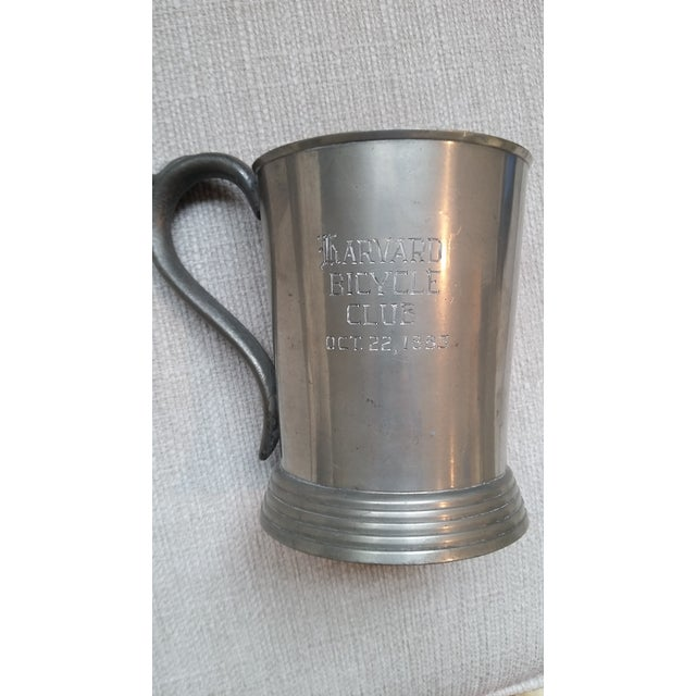 In 1883, the Harvard Horses and Hounds 3rd place pewter mug (in this listing) was awarded to William Channing Appleton,...